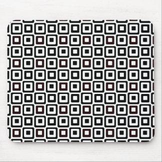 Black-n-White Squares Mouse Pad