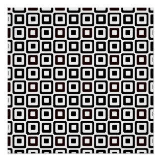 Black-n-White Squares Poster