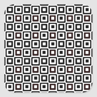 Black-n-White Squares Square Sticker