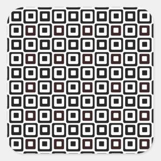 Black-n-White Squares Square Sticker