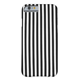 Black n White Stripes Barely There iPhone 6 Case