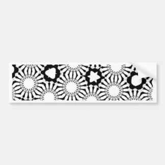 Black n White Sunflower Bumper Stickers