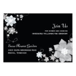 Black n White Winter Wedding Reception Enclosure Large Business Cards (Pack Of 100)