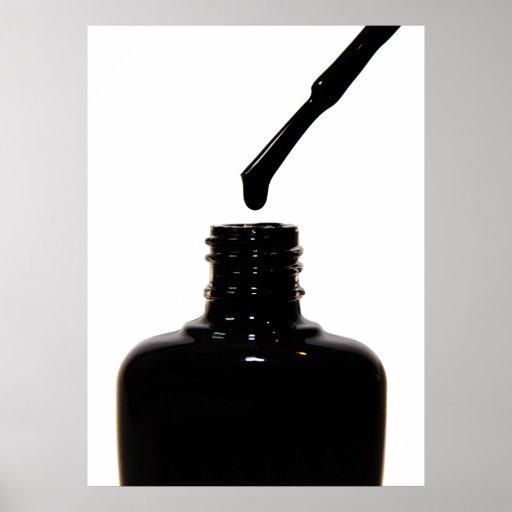Black Nail Polish Poster