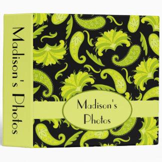Black Name Personalized Paisley Album Notebook 3 Ring Binder