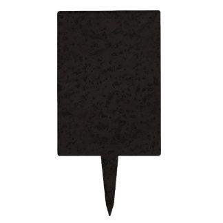 Black Natural Cork Bark Look Wood Grain Cake Topper