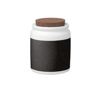Black Natural Cork Bark Look Wood Grain Candy Jar