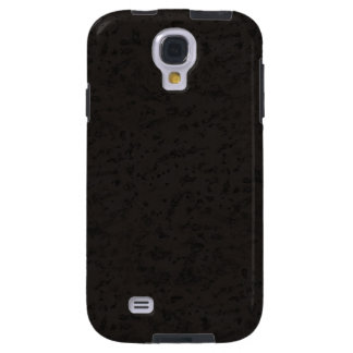 Black Natural Cork Bark Look Wood Grain Galaxy S4 Case
