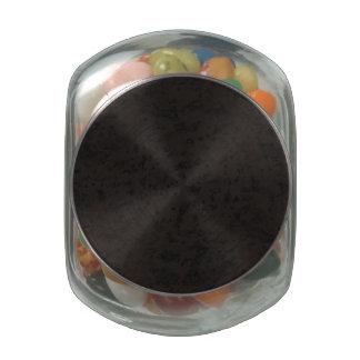 Black Natural Cork Bark Look Wood Grain Glass Candy Jar