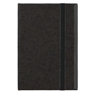 Black Natural Cork Bark Look Wood Grain iPad Mini Case