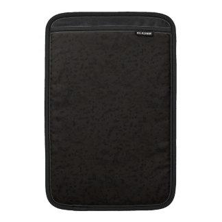 Black Natural Cork Bark Look Wood Grain MacBook Sleeves