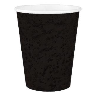 Black Natural Cork Bark Look Wood Grain Paper Cup