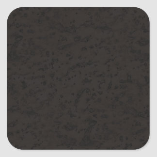 Black Natural Cork Bark Look Wood Grain Square Sticker