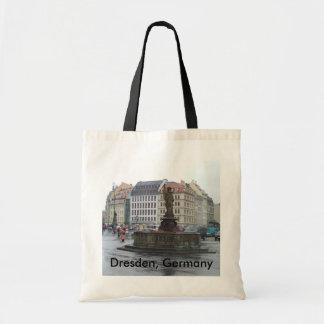 Black / Natural Dresden, Germany Totebag / Bookbag Bags