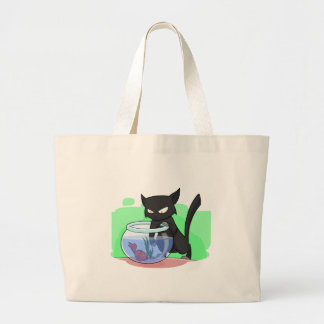 Black Naughty Cat 2 with Fish Bag
