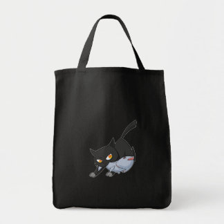 Black Naughty Steal Fish Grocery Bag