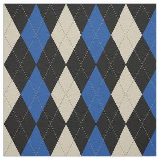 Black | Navy | Cream Argyle Pattern Fabric