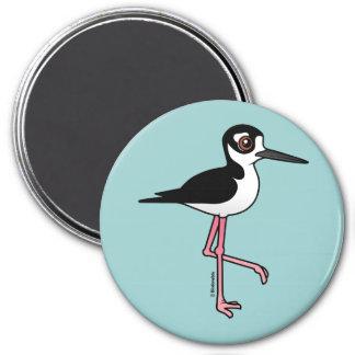 Black-necked Stilt 3 Inch Round Magnet
