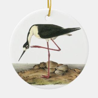 Black-Necked Stilt, John Audubon Christmas Ornaments