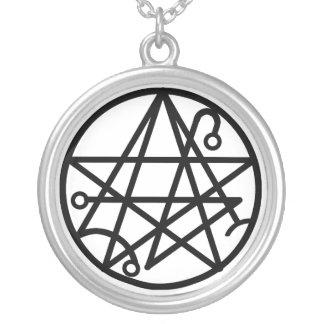 Black Necronomicon Seal Necklace