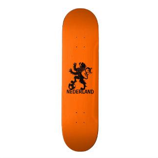 Black Nederland Lion - Dutch Soccer Lion Skate Deck