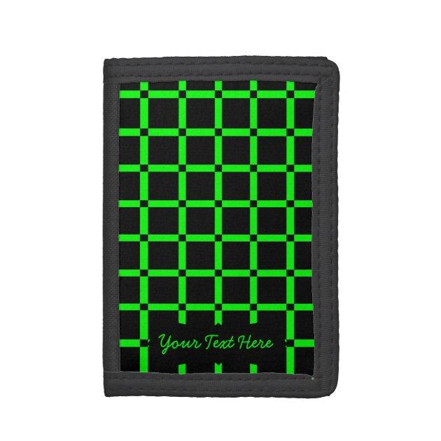 Blue Dragon Tri-Fold Wallet w// Button Pocket