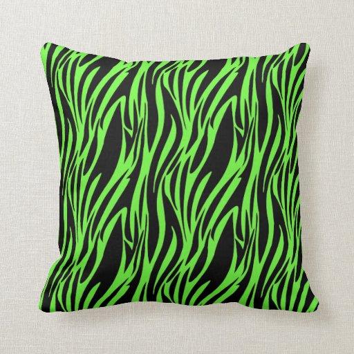 Green Zebra Print Neon Zebra Print Heart...