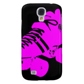 Black Neon Hot Pink Roller Derby Skate iPhone Case Galaxy S4 Case