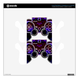 black new color design skins for PS3 controllers