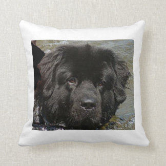 black newfie.png throw pillow