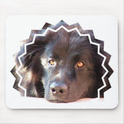 Black Newfoundland Dog Mouse Pad