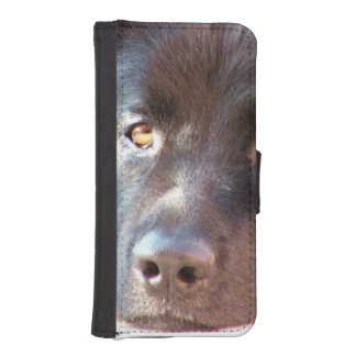 Black Newfoundland Dog Phone Wallet