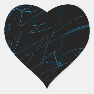 Black Night Heart Sticker
