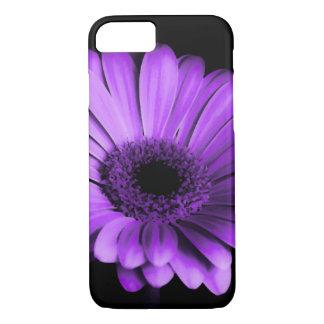 Black / Nighttime with Purple Gerbera Daisy Flower iPhone 8/7 Case