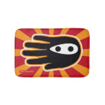 Hand shaped Black Ninja Bathroom Mat
