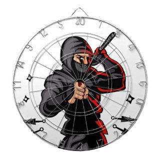 black ninja cartoon. dartboards