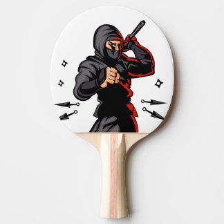 black ninja cartoon. Ping-Pong paddle