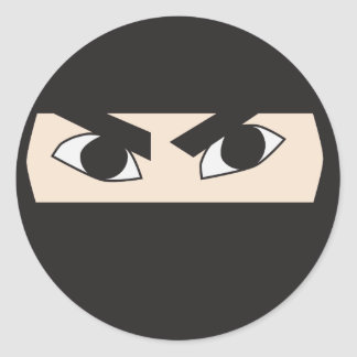 Black Ninja Classic Round Sticker