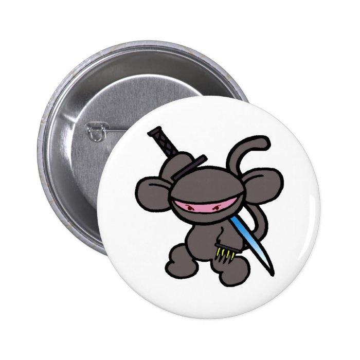 Black Ninja Claw-No Words Button