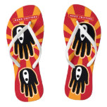 Hand shaped Black Ninja Flip Flops