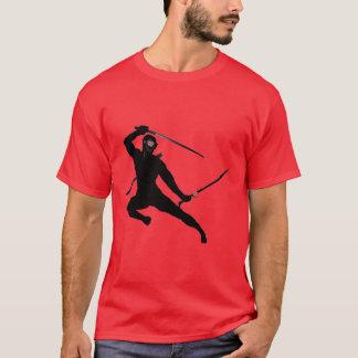 Black Ninja on red T-Shirt