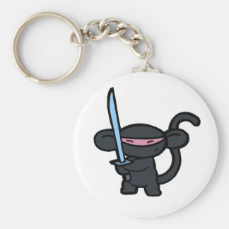 Black Ninja with Sword- No Words Keychains