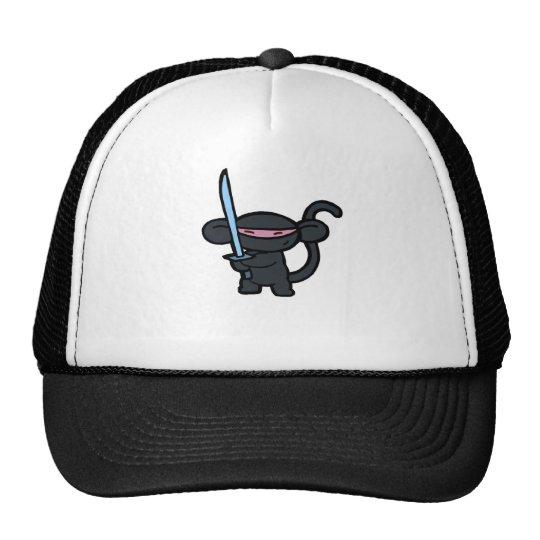 Black Ninja with Sword- No Words Trucker Hat
