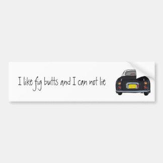 Black Nissan Figaro Car Bumper Sticker
