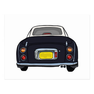 Black Nissan Figaro postcard