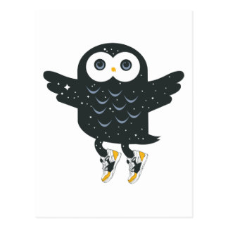 Black Nite Owl Postcard