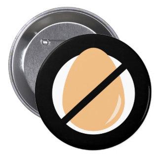 Black No Eggs Kids Egg Allergy Alert Button