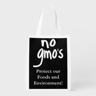 Black No GMO's Protect our Food Market Tote