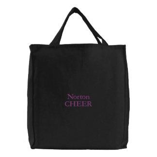 Black Norton Cheer Embroidered Bag