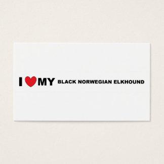black norwegian elkhound love business card